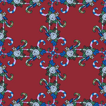 Islam, Arabic, Indian, turkish, pakistan, chinese, ottoman motifs. Colored Mandalas on blue background. Oriental pattern. Vintage vector decorative elements.