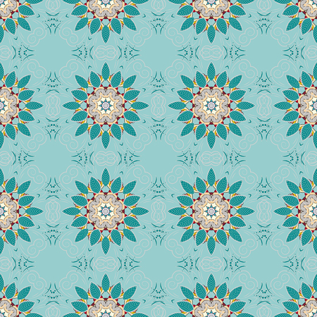 Seamless floral pattern. Vector abstract floral background. Seamless pattern with many small blue flowers. Illustration