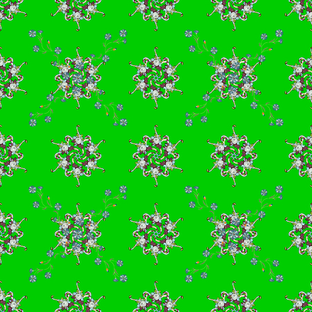 Seamless pattern with vector on a blue background. For wrap, sketchs, backgrounds and scrapbooks. For Merry Christmas, Happy New Year products.