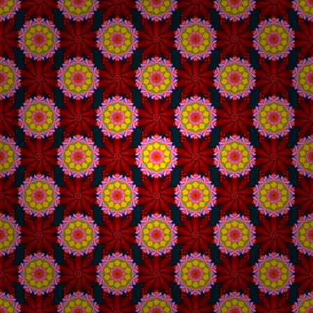 Vector flower illustration. Seamless pattern with floral motif. Seamless floral pattern with blue flowers, watercolor.