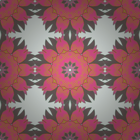 Vector hand-drawn mandala, colored abstract pattern on a white background.