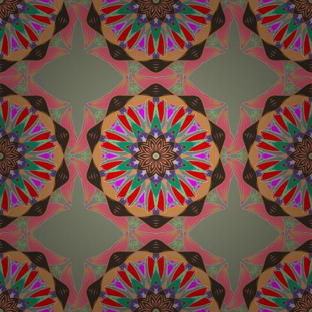 gemstone: Oriental colored pattern on white background. Vector illustration. Vintage decorative elements. Abstract Mandala. Islam, Arabic, Indian, turkish, pakistan, chinese, ottoman motifs.