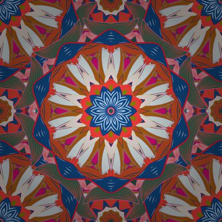 glorious: East, Islam. Arabic Vintage decorative ornament. Vector Mandala pattern on a white background. Mandala colored background. Illustration