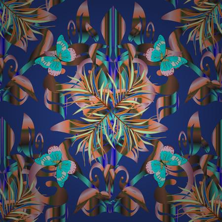 Vector Mandala. Tiled mandala design, best for print fabric or papper and more. Brown background. Boho style flower seamless pattern. 版權商用圖片 - 78856620