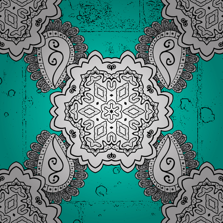 lace pattern: Oriental classic dark pattern. Vector abstract background with repeating elements. Blue on background. Illustration