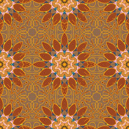 Decorative Indian Round Mandala on a white background. Colored over blue. Islam, Arabic, Indian, Turkish, Pakistan. Vintage pattern. Christmas Card Mandala Design. Invitation Card, Scrapbooking. Illustration