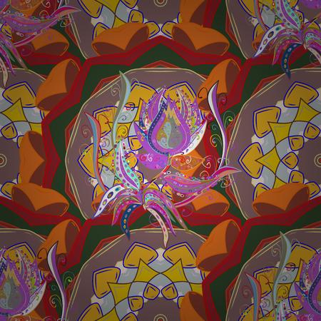 Kaleidoscope, medallion, yoga, india, arabic. Tribal, Boho, Bohemian style. Geometric circle vector element. Ornament blue colored card with mandala.
