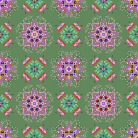 Template Colored mandala vector circle of  hand drawn on a colorful background.