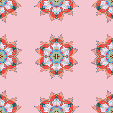 Islam, Arabic, Indian, turkish, pakistan, chinese, ottoman motifs. Vintage vector decorative elements. Colored Mandalas on a colorful background. Oriental pattern.