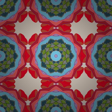 Geometric circle vector element. Kaleidoscope, medallion, yoga, india, arabic. Tribal, Boho, Bohemian style. Ornament blue colored card with mandala.