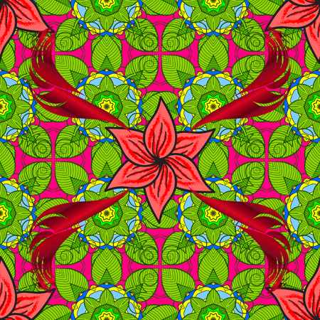 Seamless pattern with Mandalas. Vector ornaments, background. Seamless pattern with abstract ornament.
