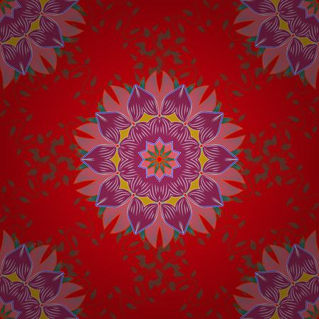 Blue background. Vector ethnic mandalas, doodle background circles.
