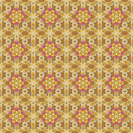 Floral seamless pattern with watercolor effect. Textile print for bed linen, jacket, package design, fabric and fashion concepts.
