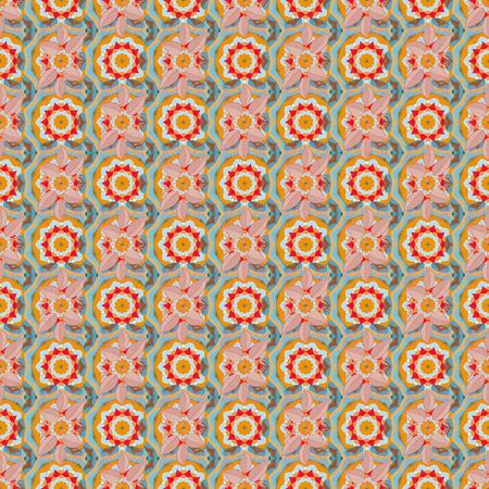 Islam, Arabic, Indian, ottoman motifs on a colorfil background. Flower Mandala seamless pattern. Vector Ethnic Oriental Circle Ornament.