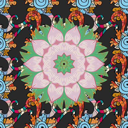 twee: Textile print for bed linen, jacket, package design, fabric and fashion concepts. Abstract vector seamless pattern flower design in colors. Floral seamless pattern with watercolor effect.