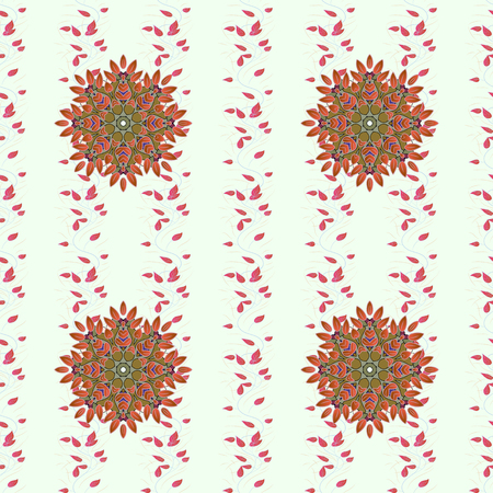 Vector flower concept. Leaf natural pattern in blue colors. Seamless floral pattern can be used for sketch, website background, wrapping paper. Summer design.