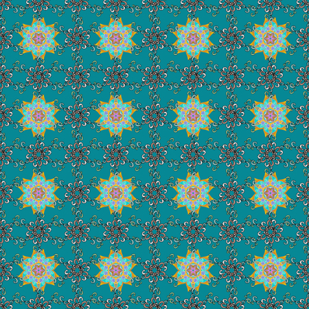 Summer design. Vector flower concept. Seamless floral pattern can be used for sketch, website background, wrapping paper. Leaf natural pattern in colors. Illustration