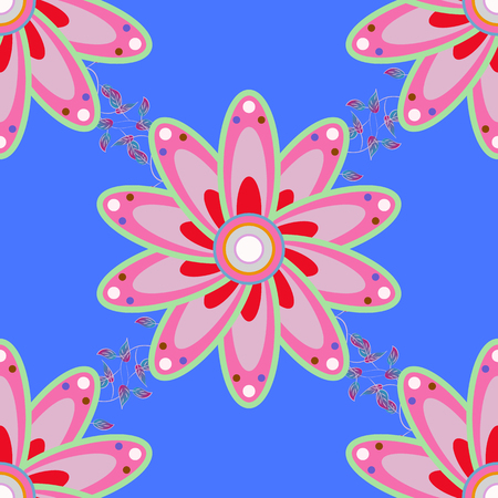 kundalini: Vector colored snowflakes design decorative Christmas element on a colorfil background. Illustration