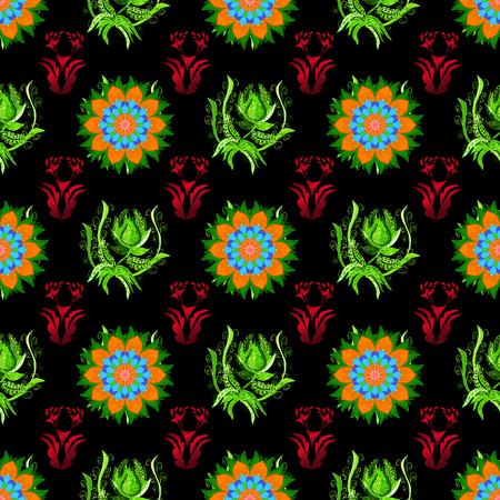 Vector cute pattern in small flower. The elegant the template for fashion prints. Motley illustration. Small colorful flowers. Spring floral background with flowers.