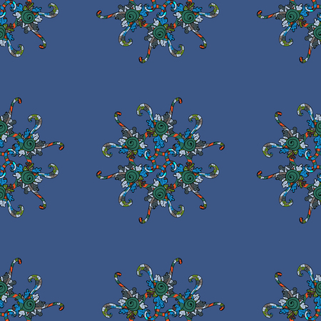 Vector colored snowflakes design decorative Christmas element on a background.