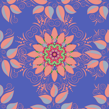 Watercolor hand painting of abstract flowers, seamless pattern vector background.