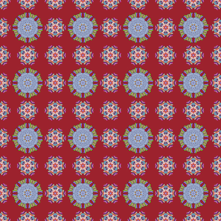 Abstract ethnic vector seamless pattern. Tribal art boho print, vintage flower background. Background texture, sketch, floral theme in colors.