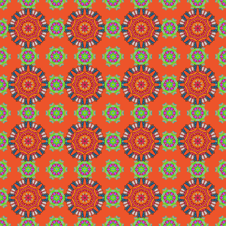 exclusive: Background. Tiled mandala design, best for print fabric or papper and more. Boho style flower seamless pattern. Vector Mandala.