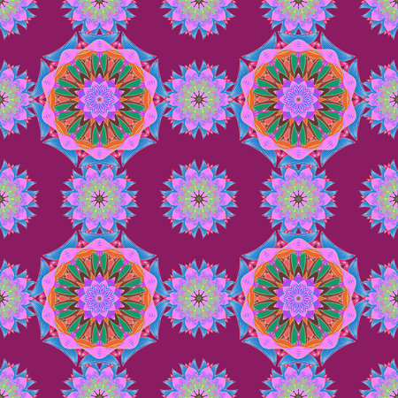 jewerly: Hand-drawn vector mandala with colored abstract pattern on a background. Bag design.