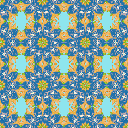 luster: Vector abstract stylized colored mandala. Intricate colored Arabesque with on a background.