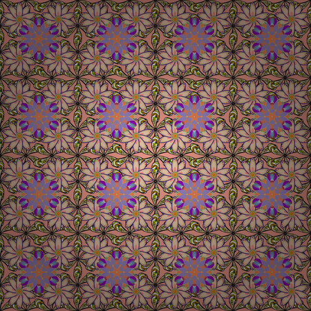ethno: Seamless pattern with many small flowers. Seamless floral pattern. Vector abstract floral background.