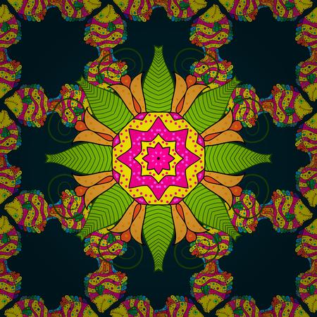 Colored Mandalas on background. Vintage vector decorative elements. Oriental pattern. Islam, Arabic, Indian, turkish, pakistan, chinese, ottoman motifs.