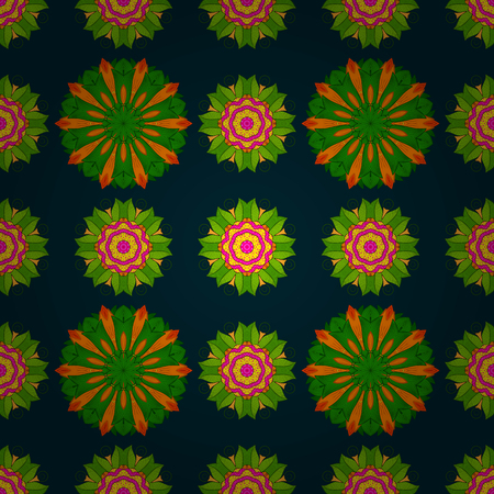 flamboyant: Vintage vector floral seamless pattern in colors. Illustration