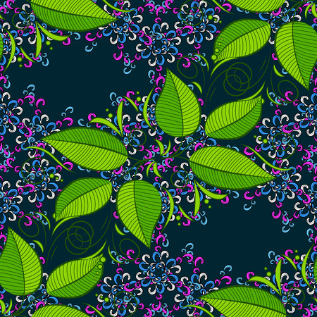 Motley illustration. Small colorful leaves. Vector cute pattern in small leaf. The elegant the template for fashion prints. Spring floral background with leaves.