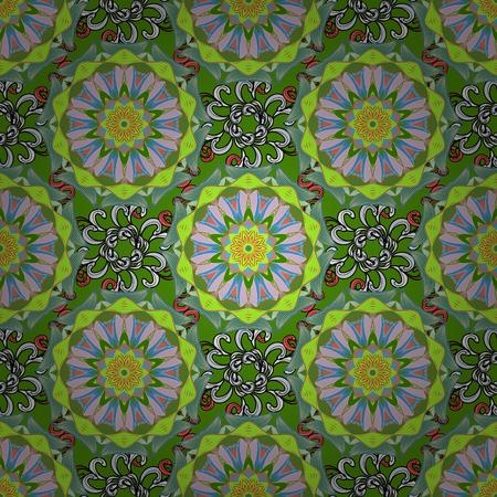 star award: Invitation with colored mandala Vector pattern for wedding card illustration