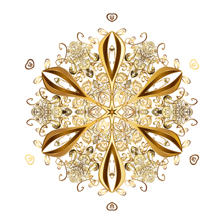 Design on white background. Abstract with Floral Elements. Vector winter pattern. Illustration