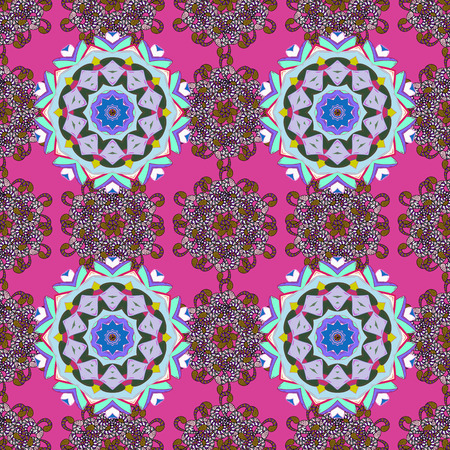 Mandala colored background. Vector Mandala pattern on a colorful background. Arabic Vintage decorative ornament. East, Islam.