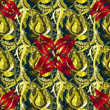 Seamless floral pattern can be used for sketch, website background, wrapping paper. Leaf natural pattern in colors. Summer design. Vector flower concept.