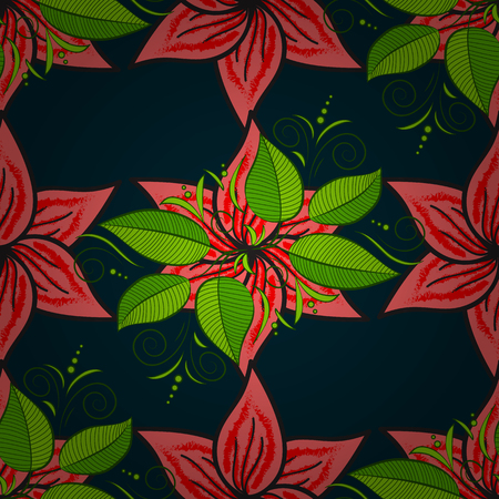 vegetal: Motley vector illustration. Seamless exotic pattern with many tropical flowers. Blooming jungle. Illustration