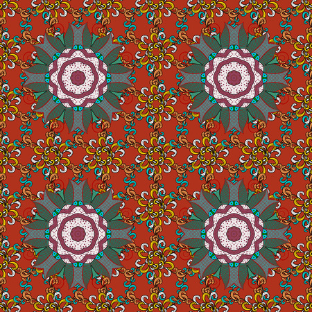 rt: For Merry Christmas, Happy New Year products. Seamless pattern with vector on a colorful background. For wrap, sketchs, backgrounds and scrapbooks. Illustration