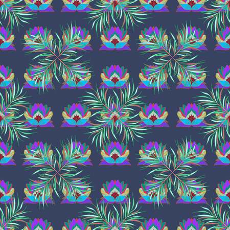 Seamless floral pattern. Vector abstract floral background. Seamless pattern with many small flowers. Illustration