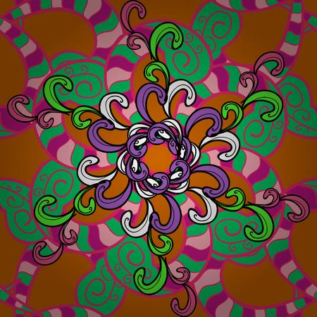 vegetal: Vintage vector floral seamless pattern in colors. Illustration