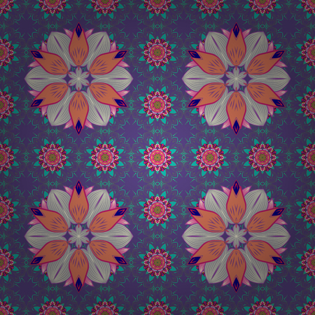 modish: Floral seamless pattern with watercolor effect. Textile print for bed linen, jacket, package design, fabric and fashion concepts. Abstract vector seamless pattern flower design in pink colors.