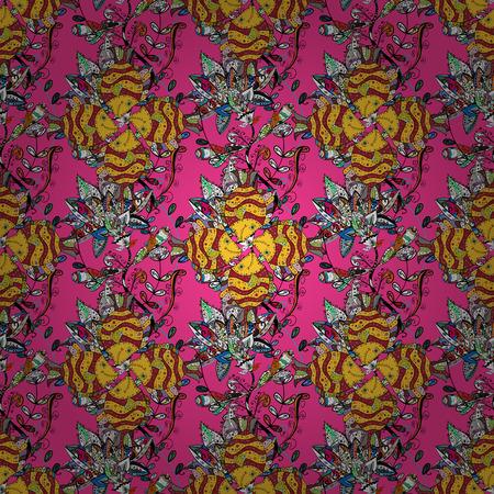 Endlose Vektorbeschaffenheit für romantisches Design, Dekoration, Grußkarten, Poster, Verpackung, für Textildruck und Gewebe. Nahtloses mit Blumenmuster mit hellem Sommer blüht in den rosa Farben.