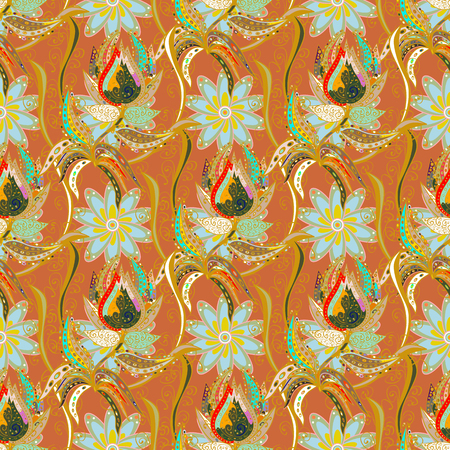 nobby: A Vector abstract flower background. Pretty floral print with small flowers. Motley seamless pattern.