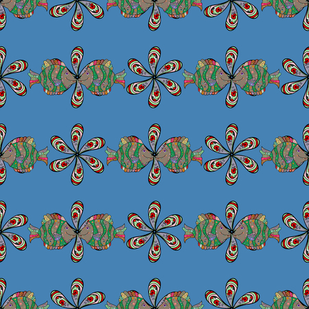 nobby: Blooming jungle. Motley vector illustration. Seamless exotic pattern with many tropical flowers. Illustration