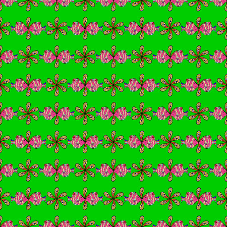 Vector flower concept seamless floral pattern can be used for sketch, website background, wrapping paper, leaf natural pattern in colors.