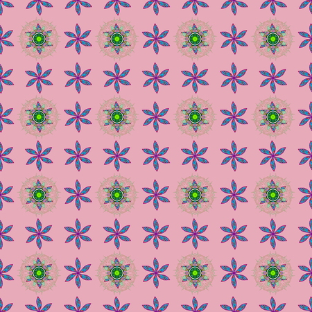 nobby: Seamless pattern with floral motif. Seamless floral pattern with flowers, watercolor. Vector flower illustration. Illustration