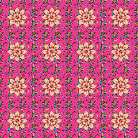 popular: Seamless pattern with flowers on motley background. Vector illustration of flowers.