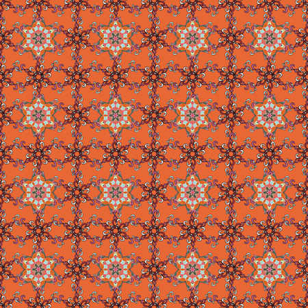 Elegant seamless pattern with decorative flowers in colors. Vector floral pattern for wedding invitations, greeting cards, scrapbooking, print, gift wrap, manufacturing fabric and textile. Illustration