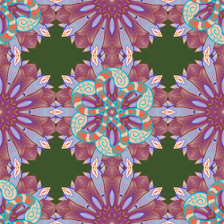 Summer design. Seamless floral pattern can be used for sketch, website background, wrapping paper. Leaf natural pattern in colors. Vector flower concept. Illustration